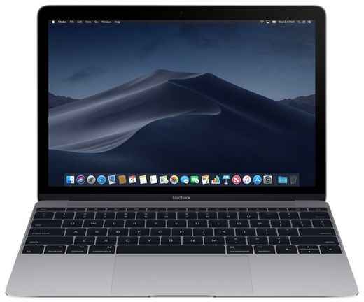 "Apple MacBook 12"", 8GB, 256GB SSD, harmaa"