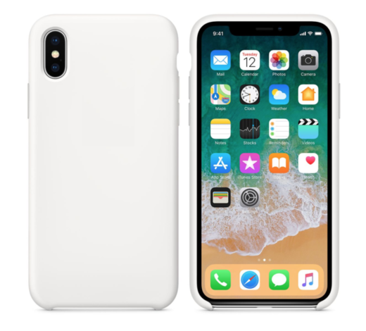 Apple iPhone X/XS silikonisuoja, valkoinen