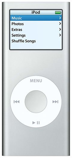 Apple iPod Nano 2nd 2GB hopea